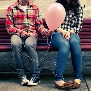 brandon christopher - couple holding balloon ipad wallpaper