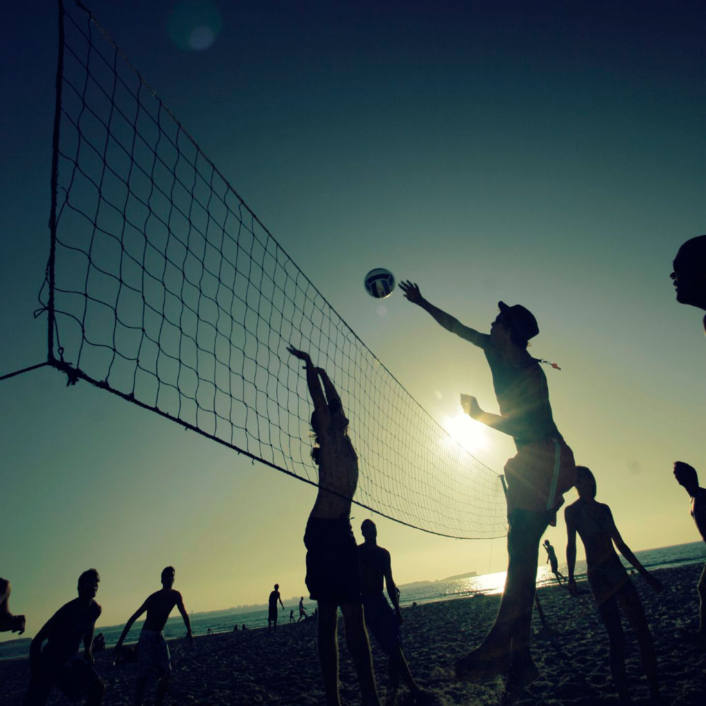 jens karlsson - sunset volleyball in portugal ipad wallpaper