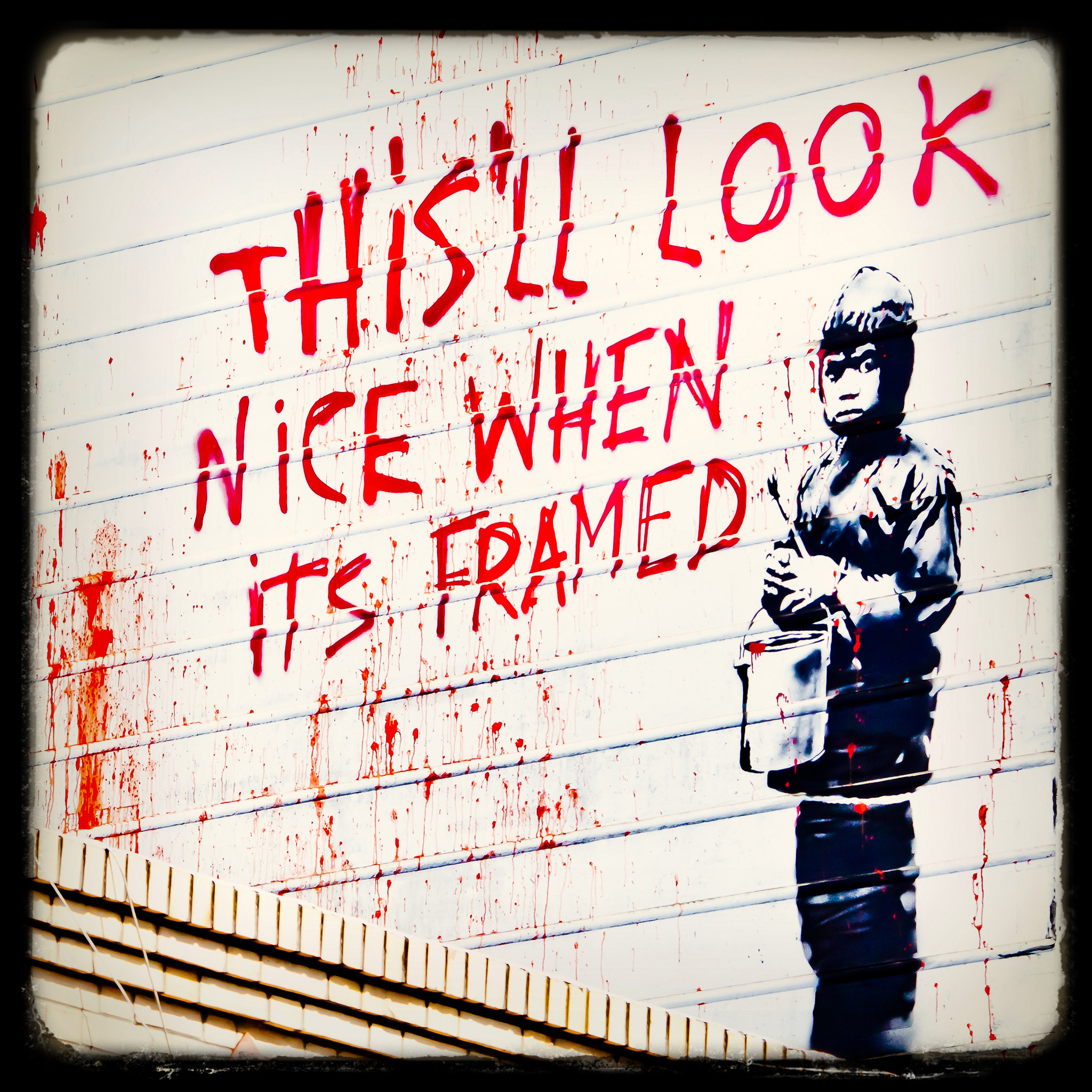 thomas hawk - more banksy in san francisco ipad wallpaper