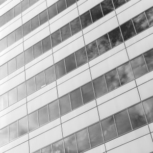 charles henry - bw office building facade ipad wallpaper