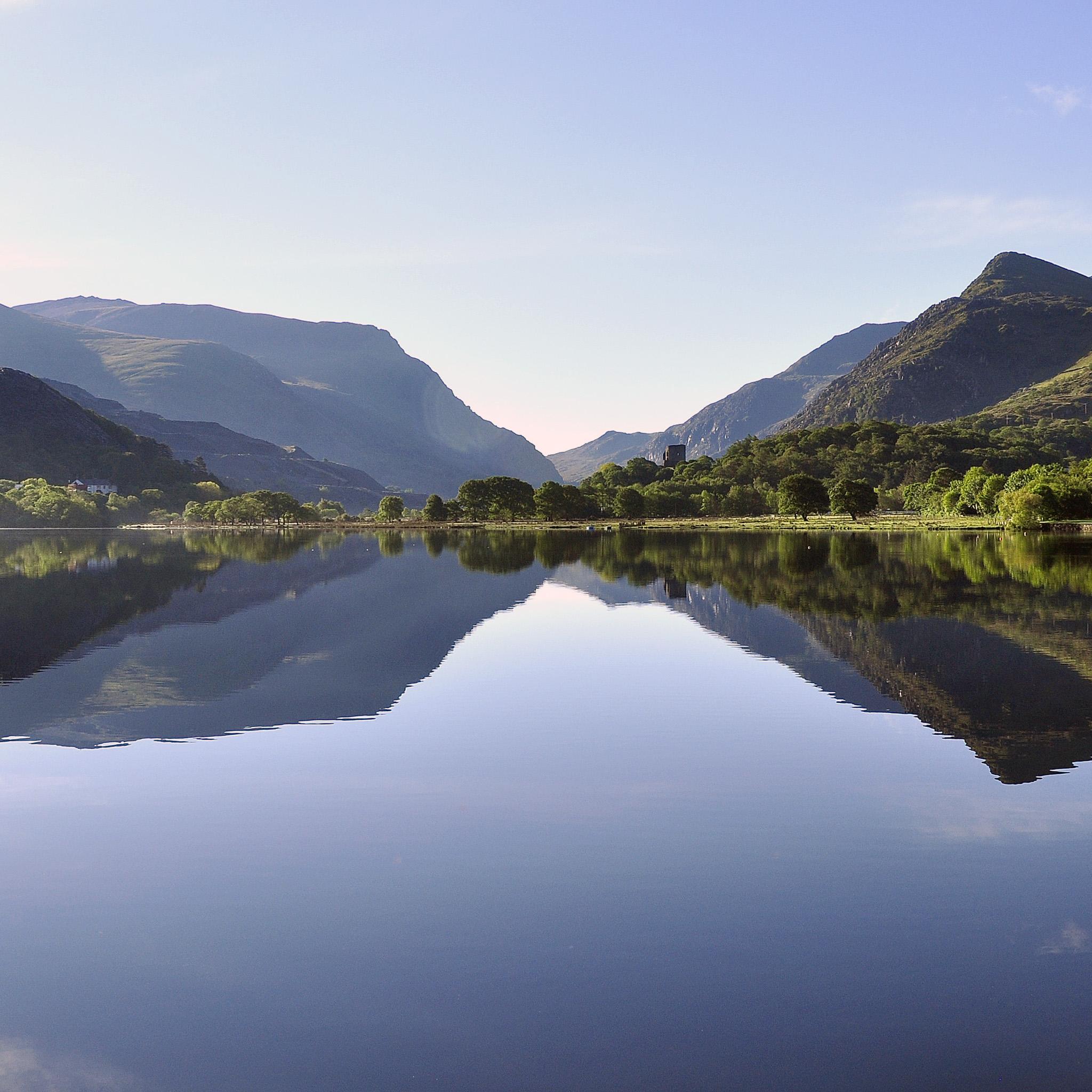 hefin owen - lake reflection landscape ipad wallpaper