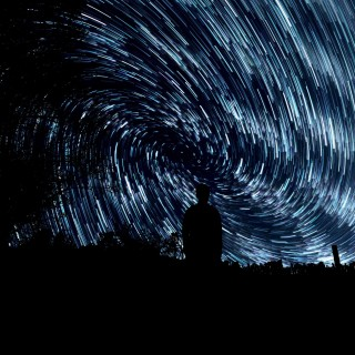 jeremy thomas - star trails circle ipad wallpaper