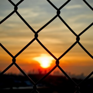 jorge quinteros - fence sunset ipad wallpaper