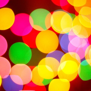 kevin dooley - christmas ligh bokeh ipad wallpaper