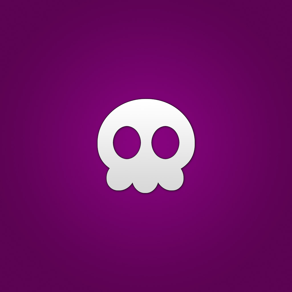 lordzoltan - violet skull illustration ipad wallpaper