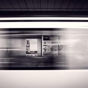 mario calvo - speeding metro train ipad wallpaper