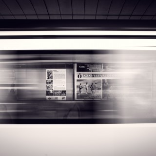 mario calvo - speeding metro train ipad wallpaper