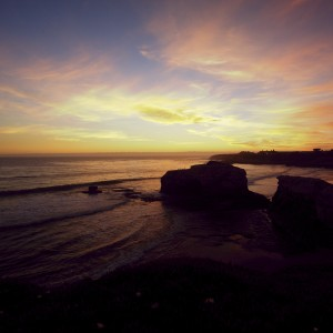 mark sebastian - santa cruz sunset ipad wallpaper