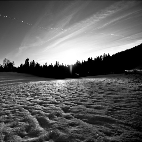 Black and White Winter Landscape by Matthias Rhomberg Ipad wallpaper