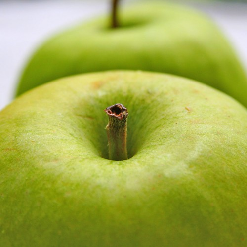 Two green apples iPad Wallpaper