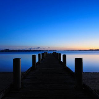 piotr zurek - blue sunrise ipad wallpaper