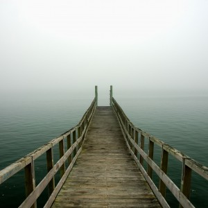 piotr zurek - misty morning dock ipad wallpaper