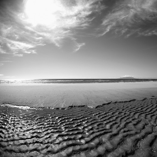 Pakiri Beach in B&W by Piotr Zurek Ipad wallpaper
