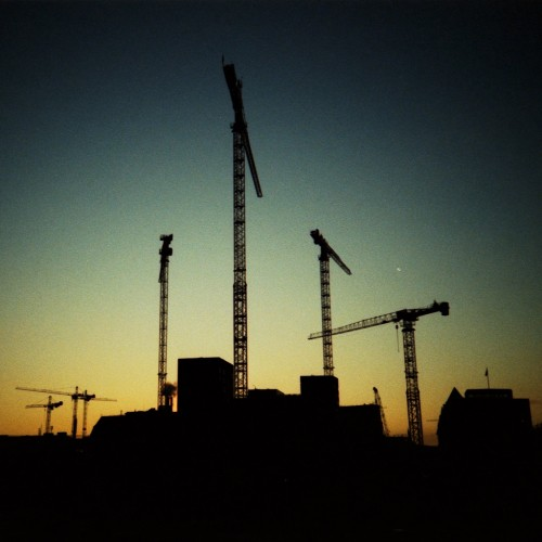 LOMO Cranes by Ralph von der Heyden Ipad wallpaper