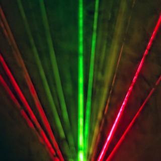 smackandtoss - colorful lasers ipad wallpaper