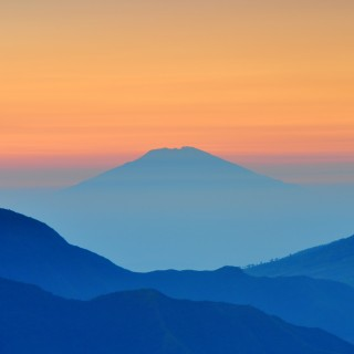 stefanus martanto - blue mountains orange sky ipad wallpaper