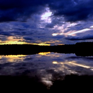 steve took it - sunset lake ipad wallpaper
