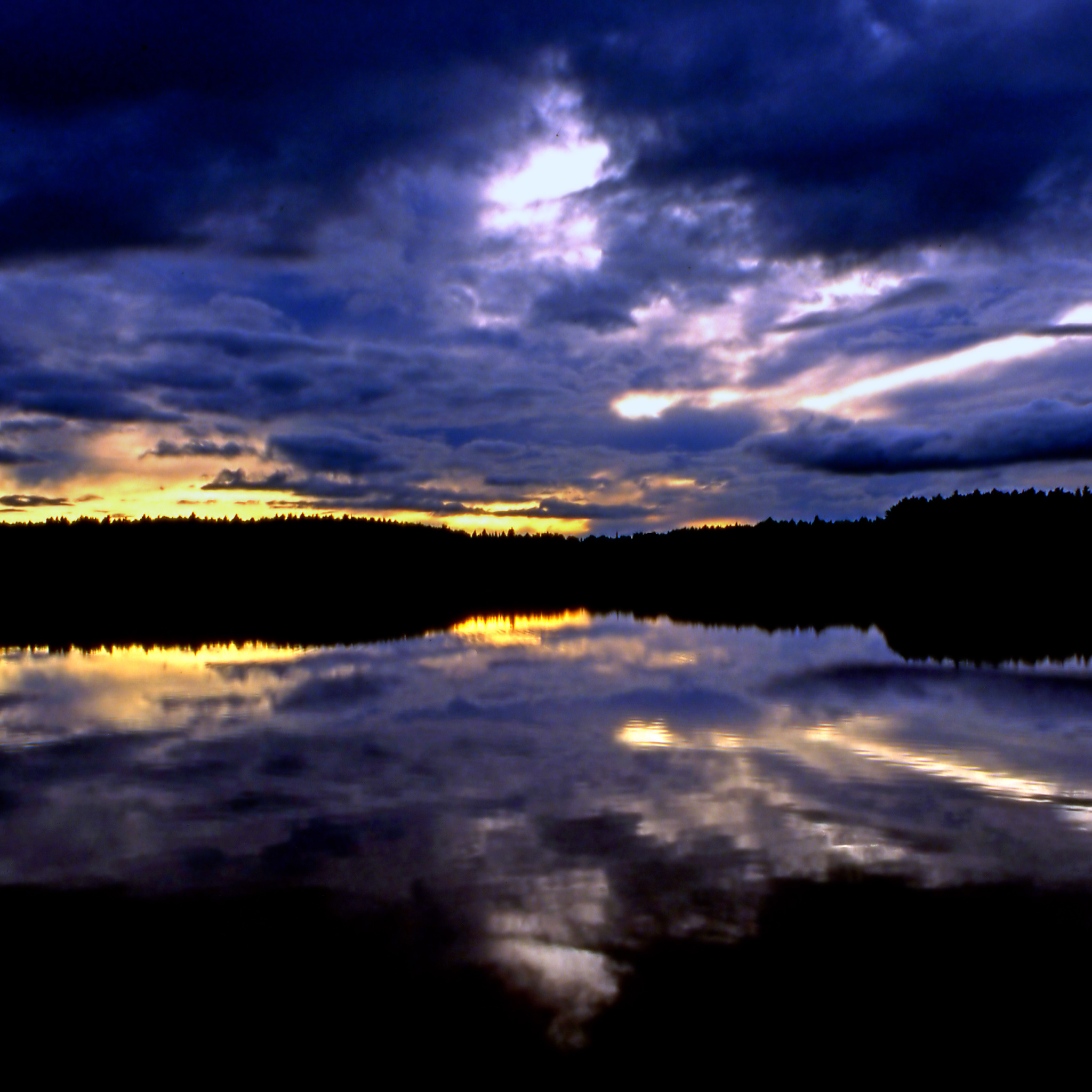 steve took it - sunset lake ipad wallpaper