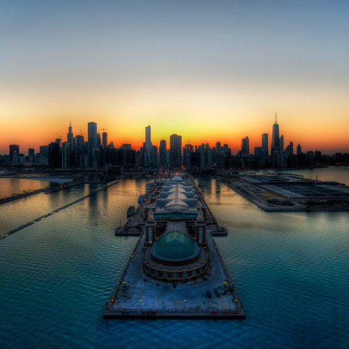 Chicago Thaws into Spring by Stuck in Customs Ipad wallpaper