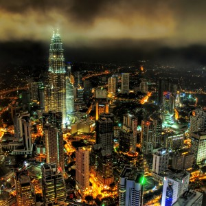 stuck in customs - kuala lumpur night ipad wallpaper