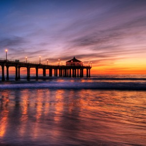 szeke - manhattan beach pier ipad wallpaper