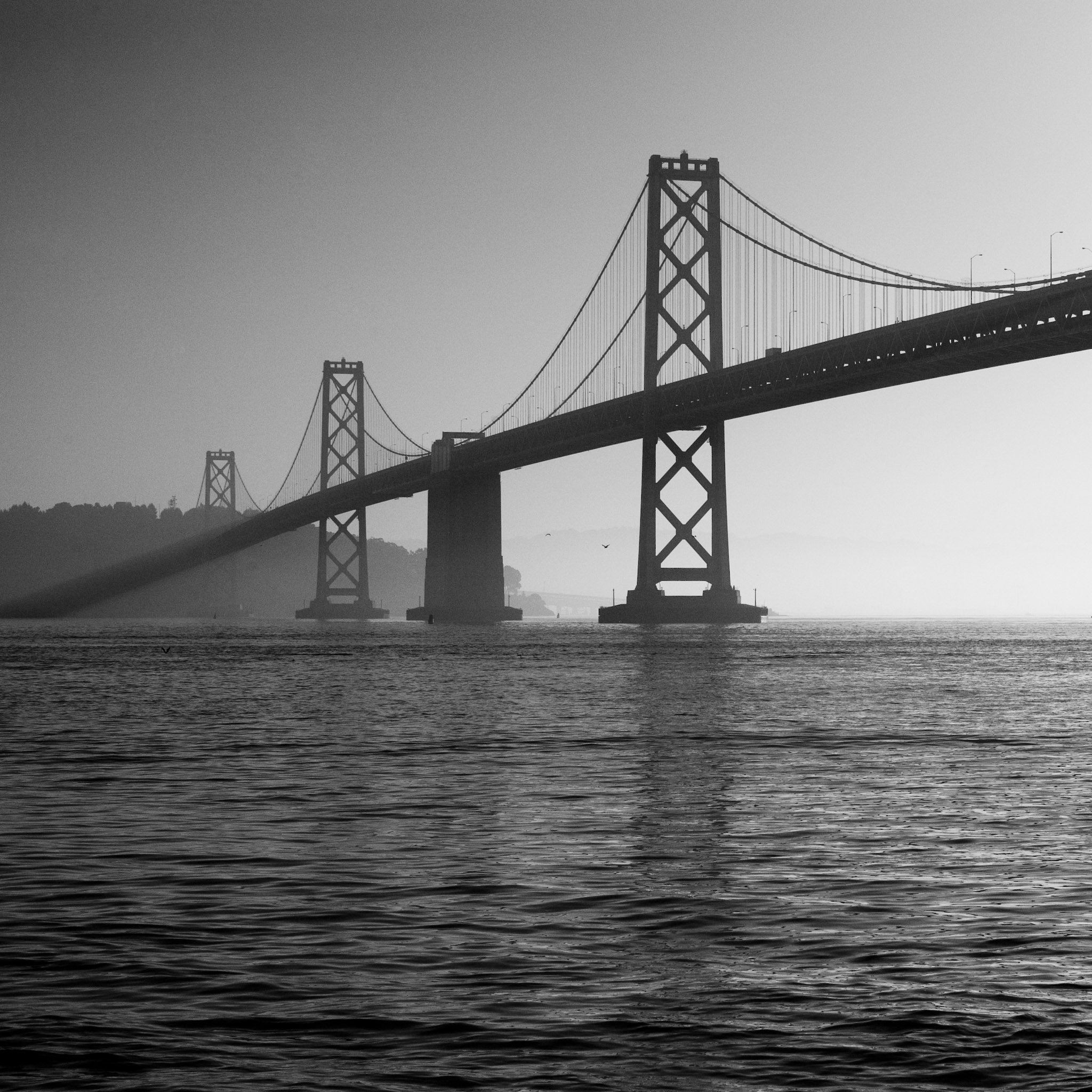 thomas hawk - bay bridge ipad wallpaper