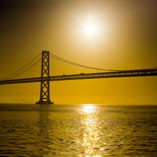 thomas hawk - bay bridge sunrise ipad wallpaper