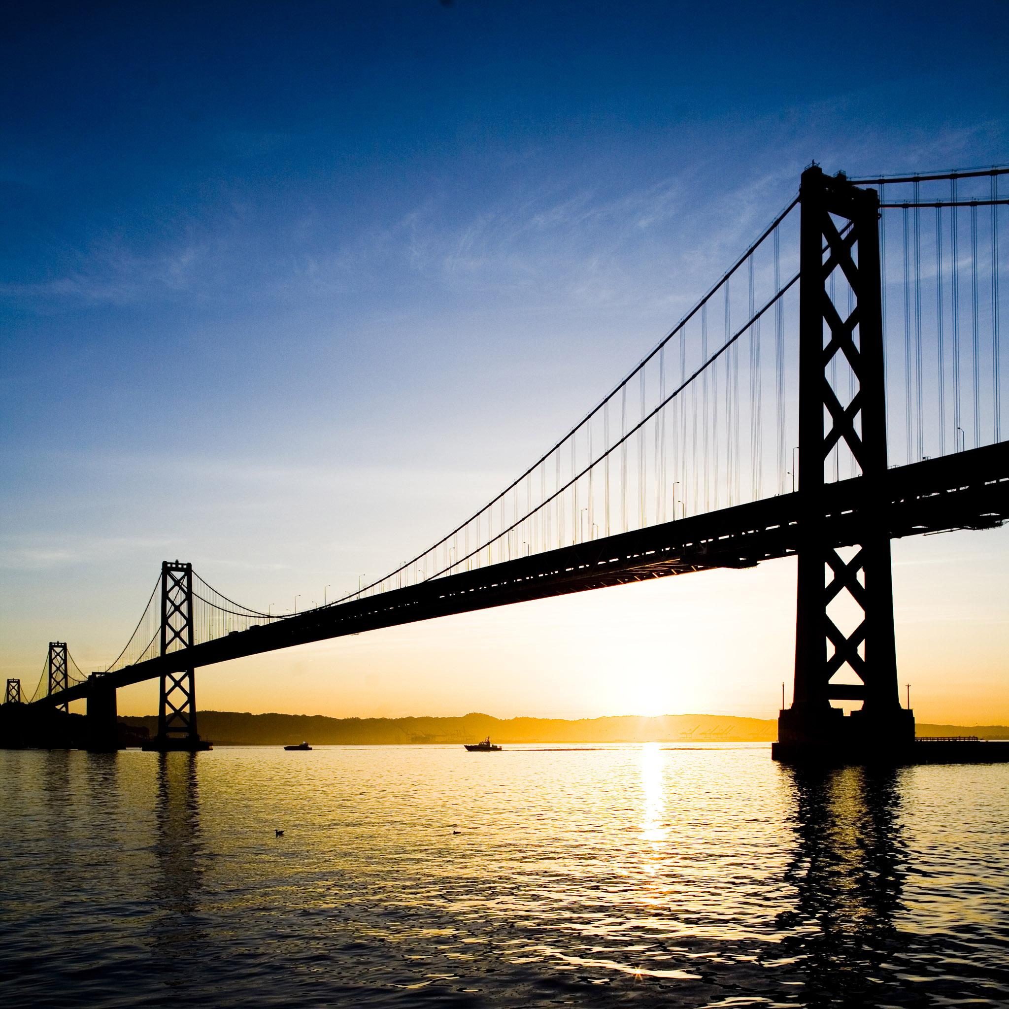 thomas hawk - bay bridge sunset ipad wallpaper