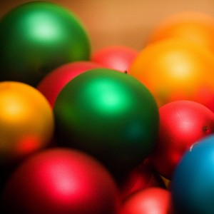 thomas hawk - colored christmas balls ipad wallpaper